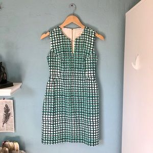 kate spade samantha green grid dress 2 $378